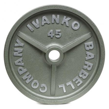 Disque Olympique Ivanko Plein Métal Hammertone 20 kg