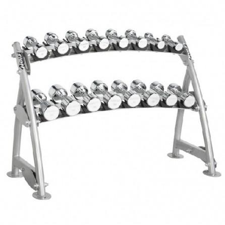 Range-Haltères 2 Niveaux pour haltères chromés Hoist Fitness CF-3462-2