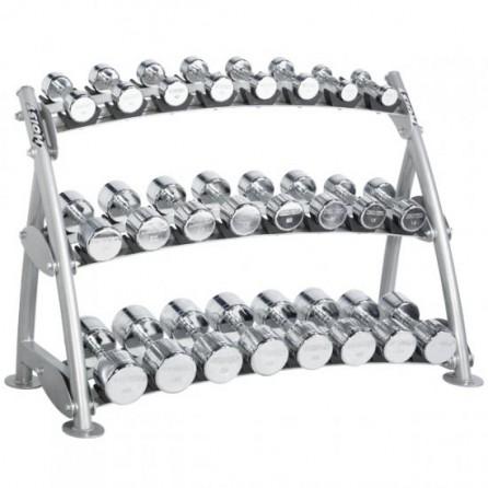 Range-Haltères 3 Niveaux pour haltères chromés Hoist Fitness CF-3462-3